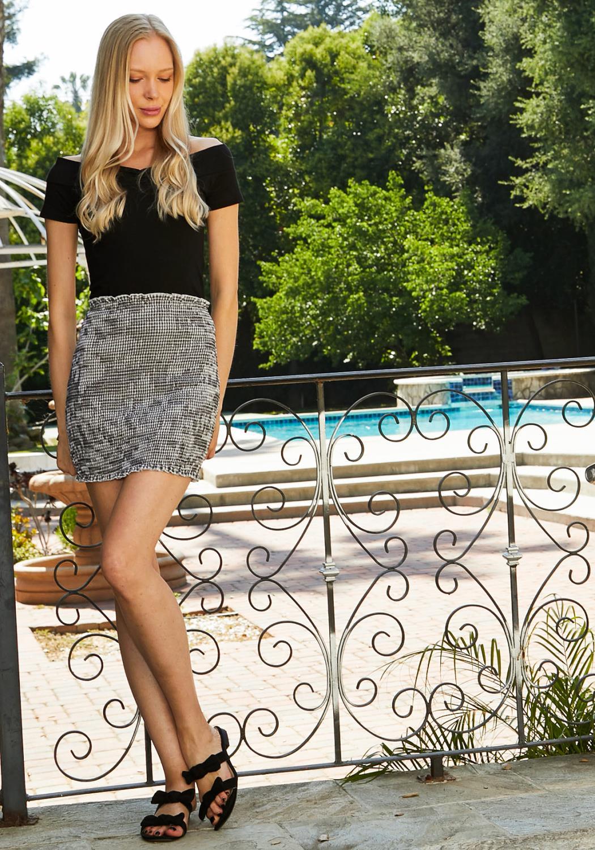 Tansy Gingham Smocked Skirt
