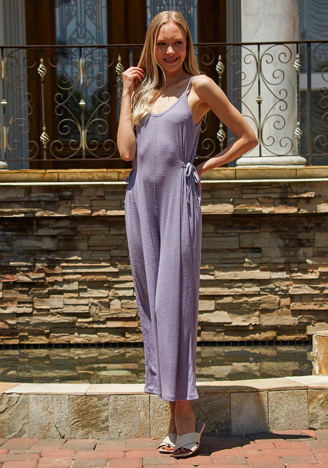 Tansy Ribbed Cropped Jumpsuit