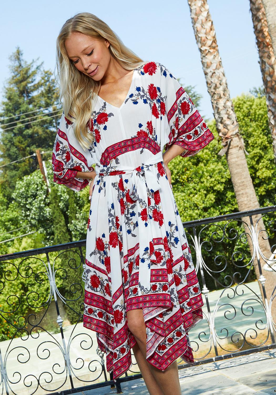 Tansy Ethnic Midi Dress