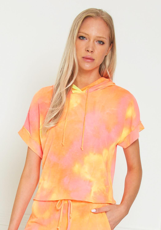 Tansy Tie Dye Short Sleeve Hoodie