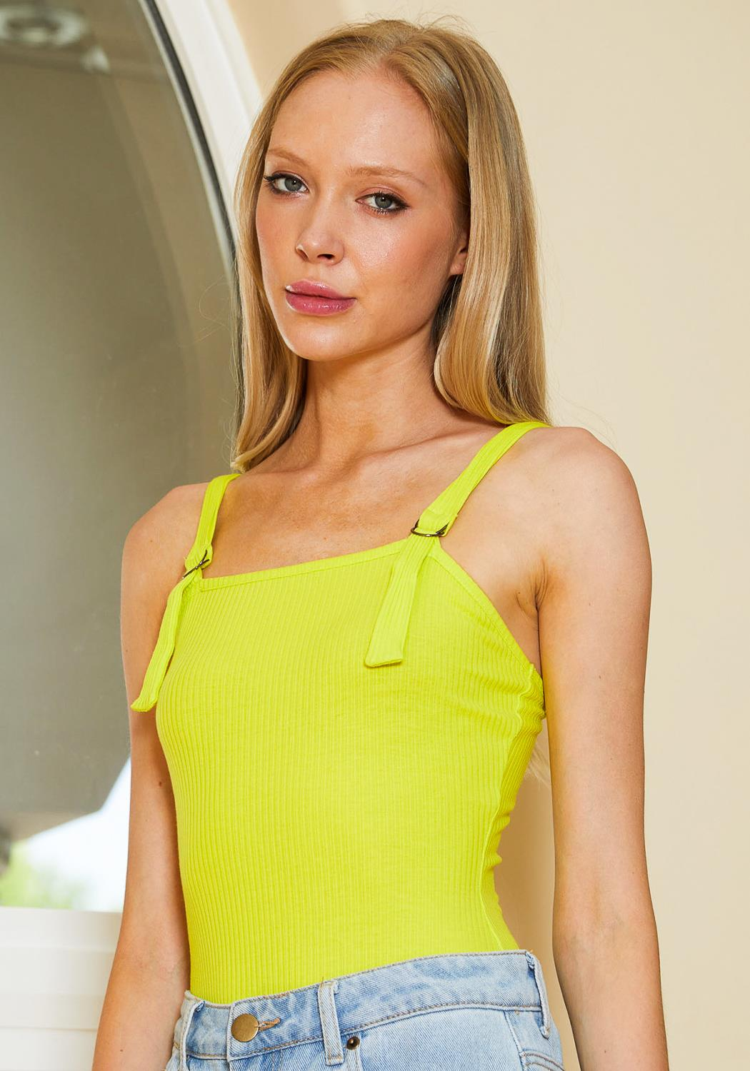 Tansy Ribbed Neon Cami Bosyduit