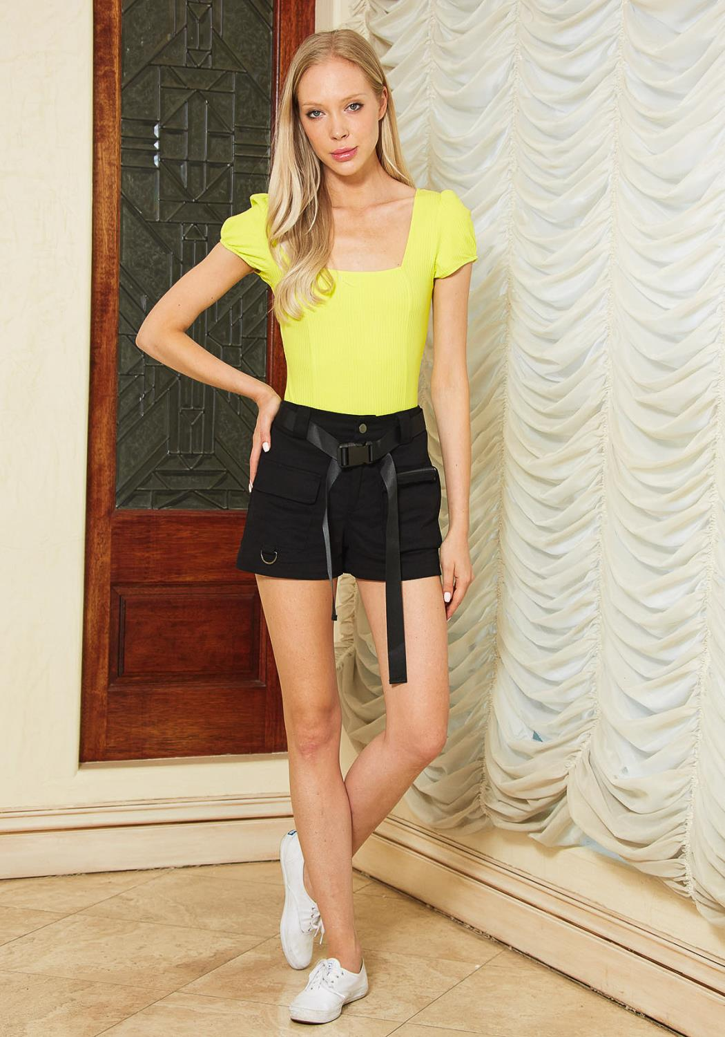 Tansy Buckle Belt Utility Shorts
