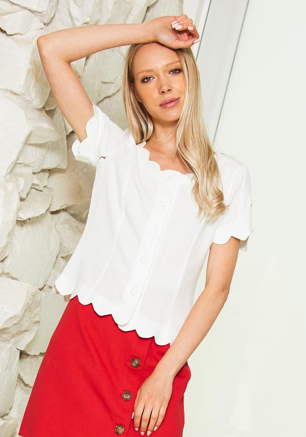 Tansy Scallop Top