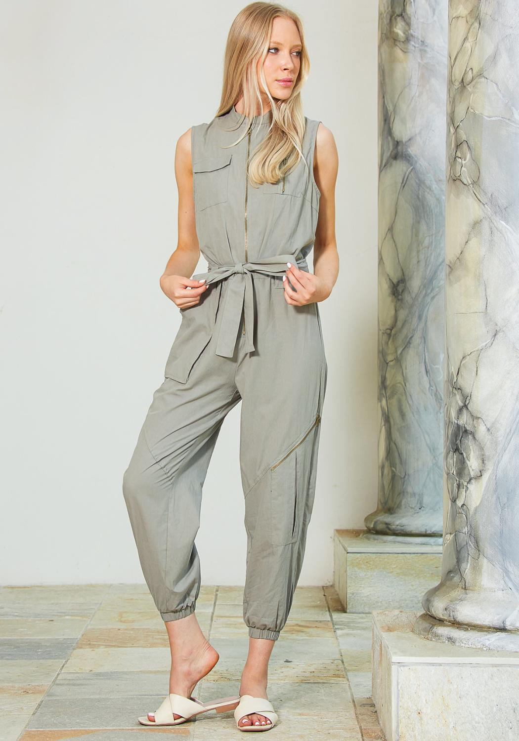 Tansy Zip Up Utility Jumpsuit
