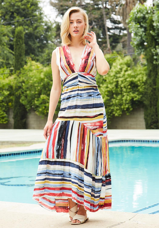 Tansy Multi Print Maxi Dress