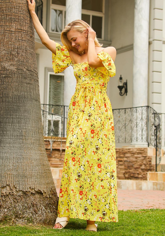 Tansy Floral Smocked Maxi Dress