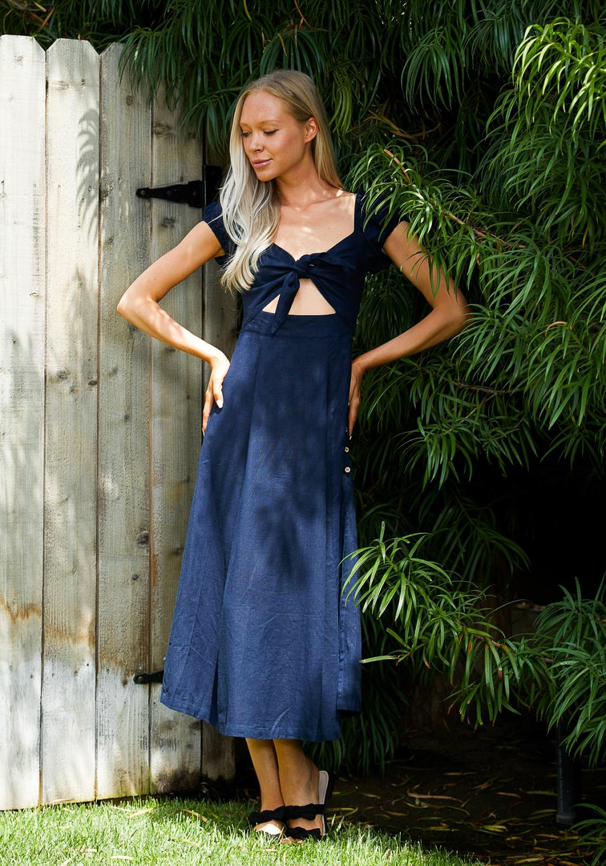 Tansy Tie Front Maxi Dress