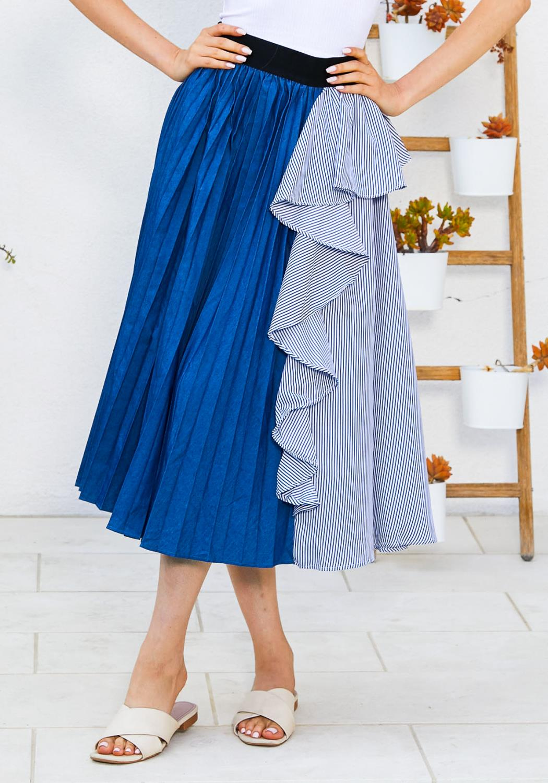 Tansy Ruffle Pleated Skirt