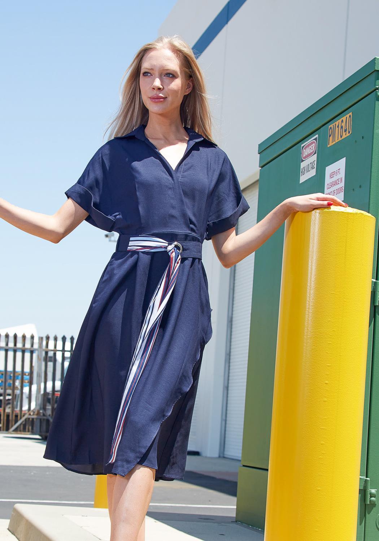 Tansy Marie Tie Waist Midi Dress