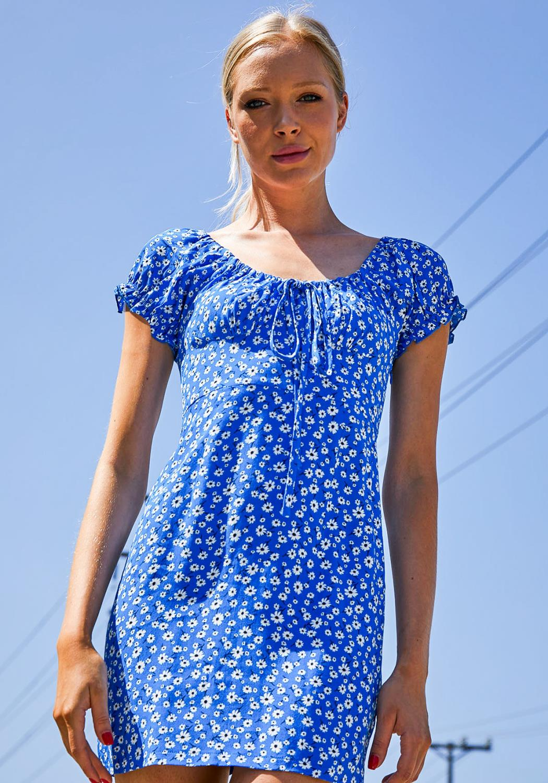 Tansy Blue Sky Floral Dress