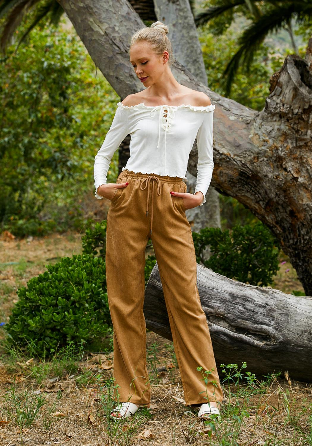 Tansy Ribbed Women Jogger Pants