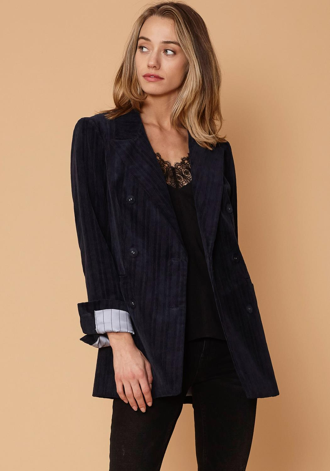 Nurode Corduroy Double Breasted Blazer