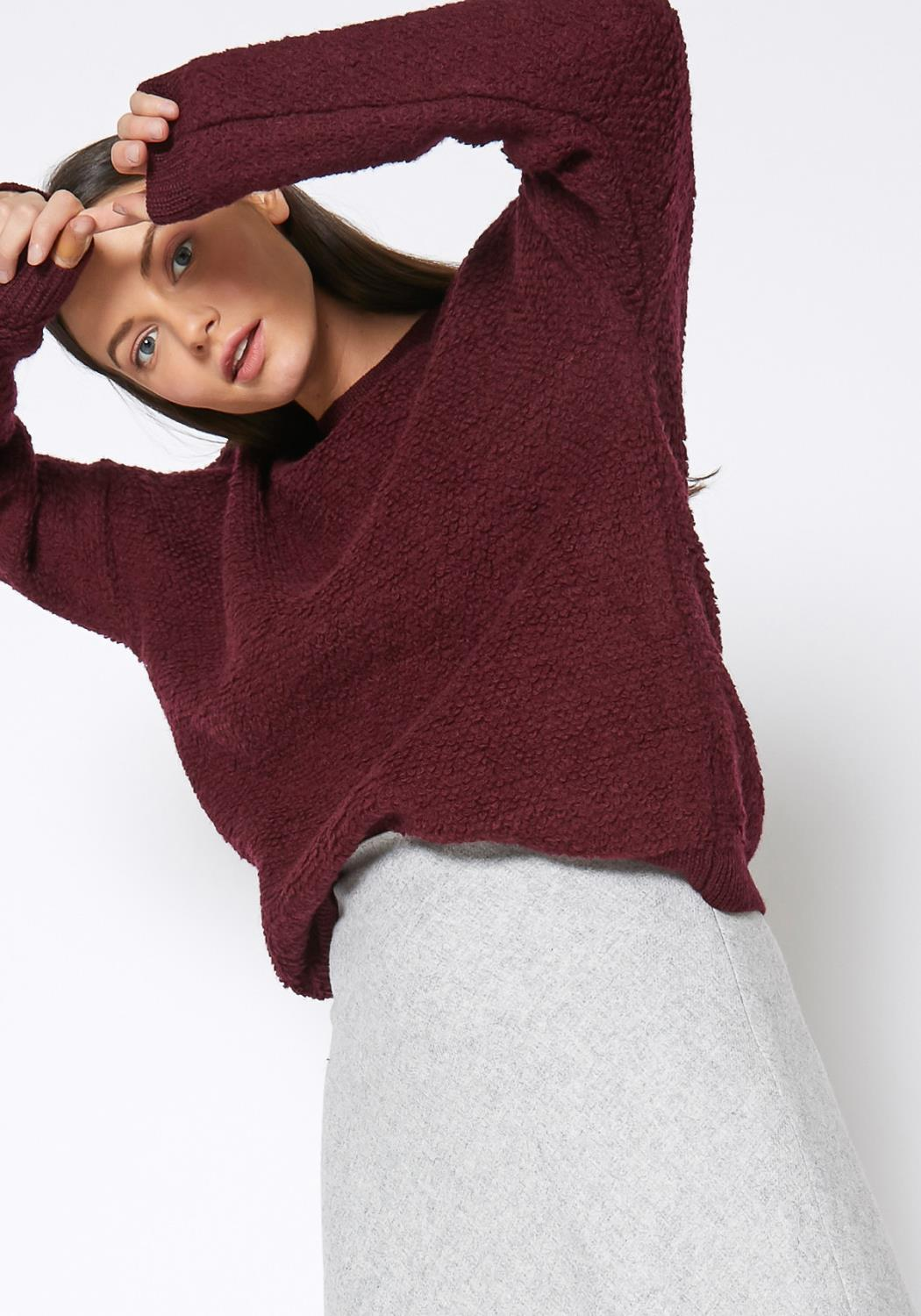 Ro & De Rag Wool Knit Crew Neck Sweater