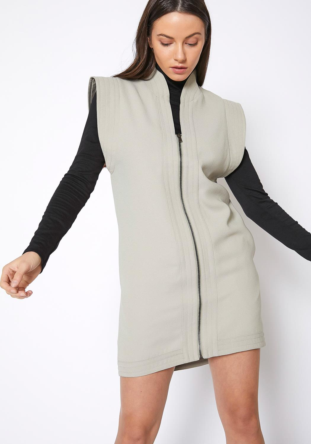 Ro & De Sleeveless Zip Up Vest