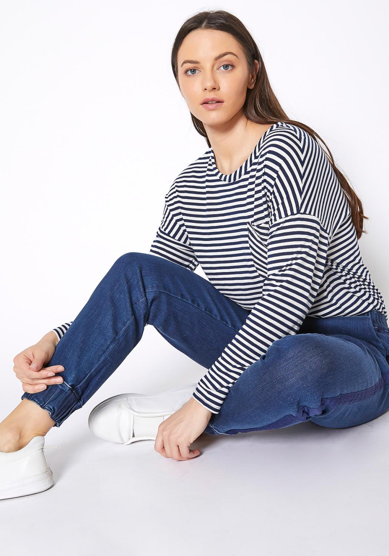 Ro & De Womens Elastic Cuffed Jean