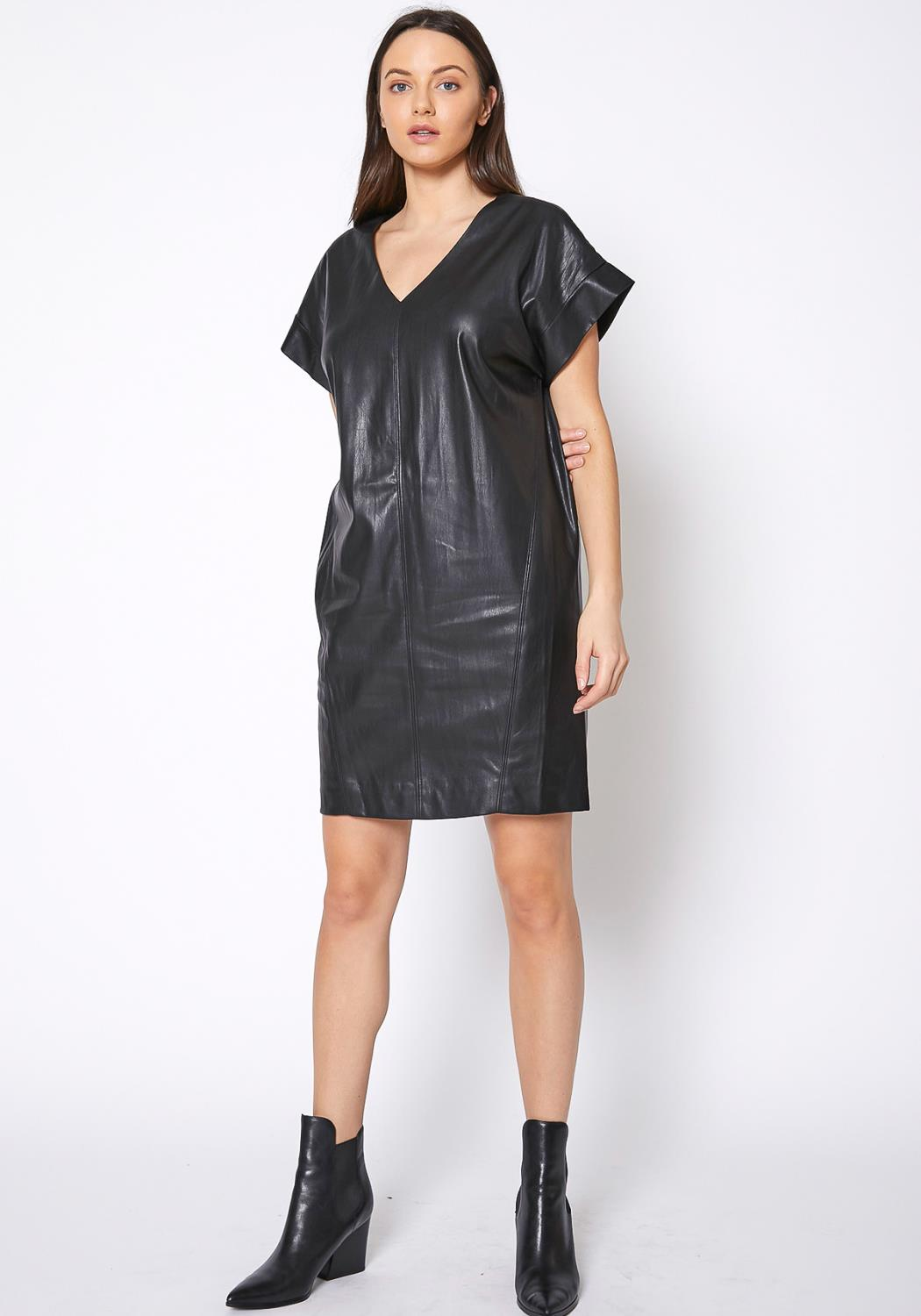 Ro & De Womens PU Leather Dress