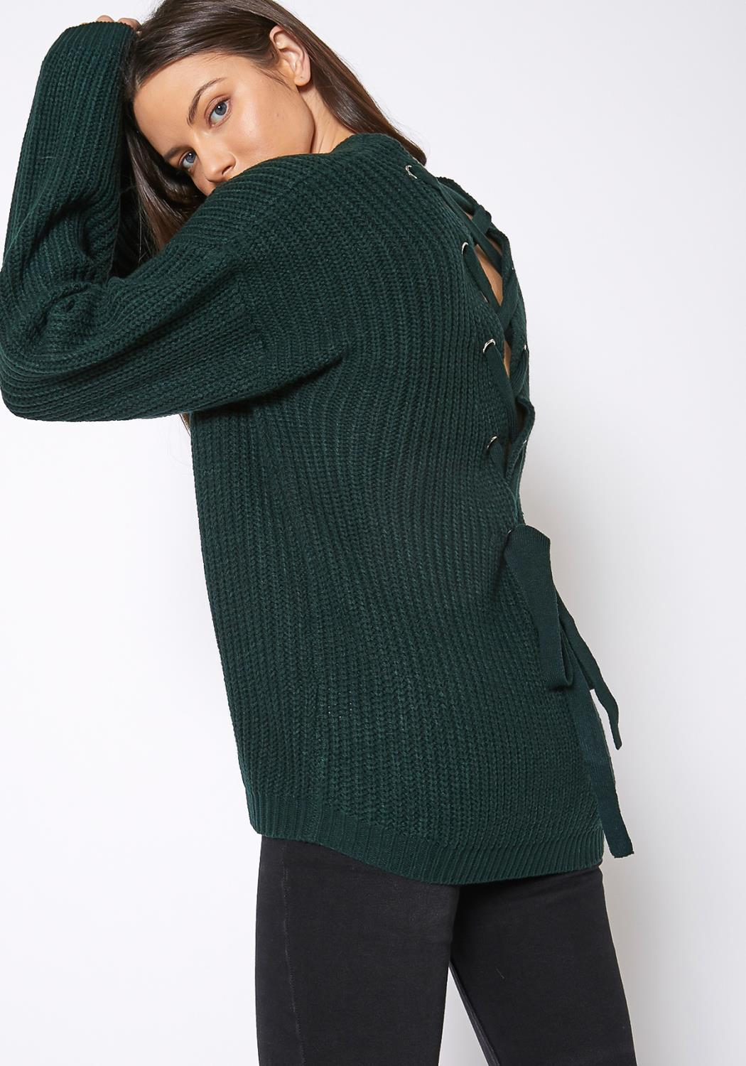 Pleione Cross Back Oversized Sweater