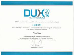 Dux finalist