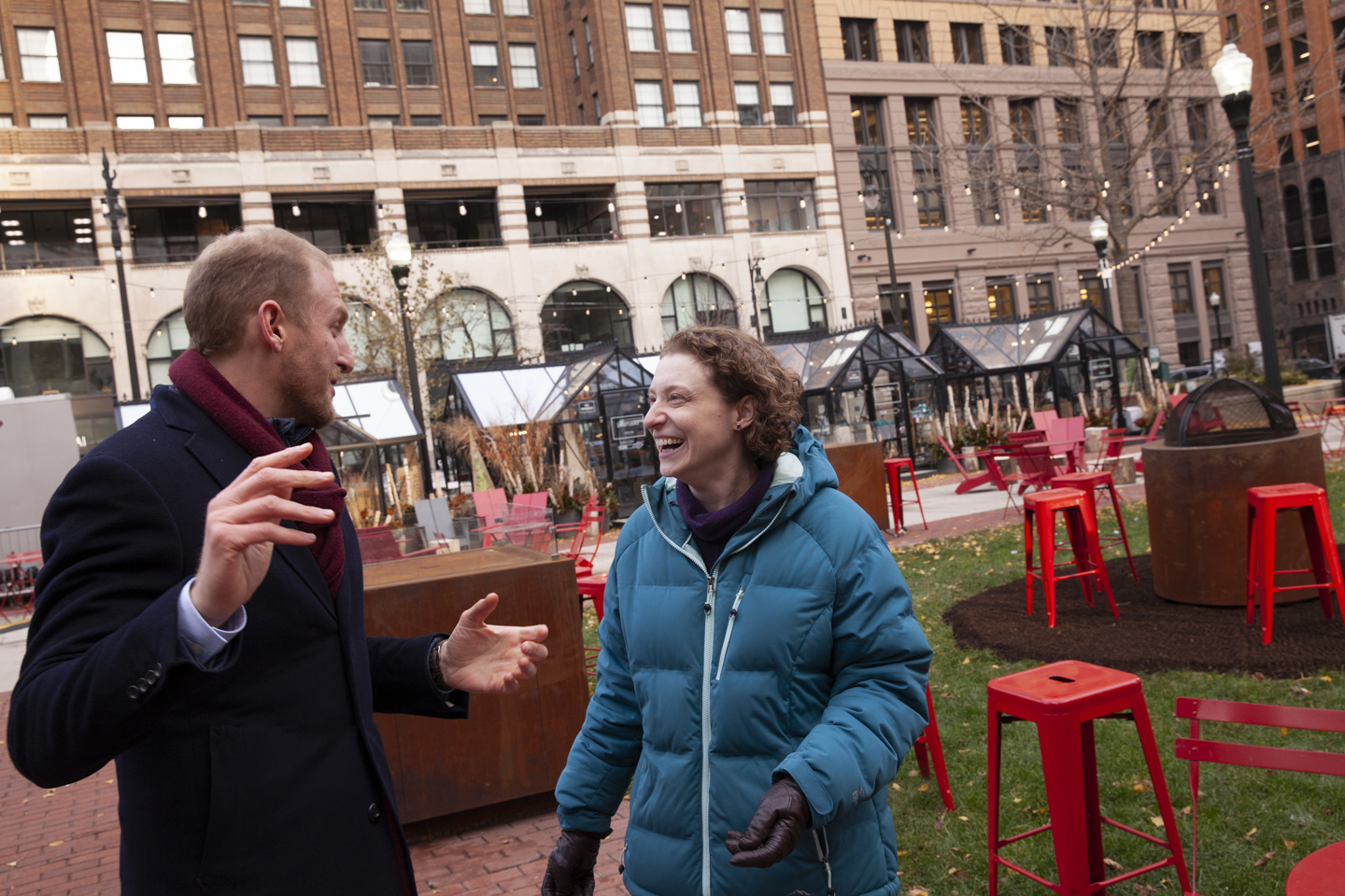 In Capitol Park with Rabbi Ariana Silverman