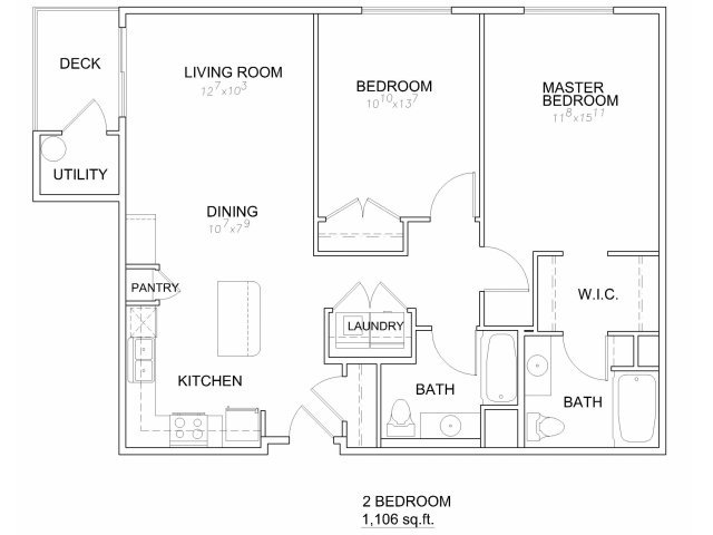 Floor Plans at 644 City Station Apartments