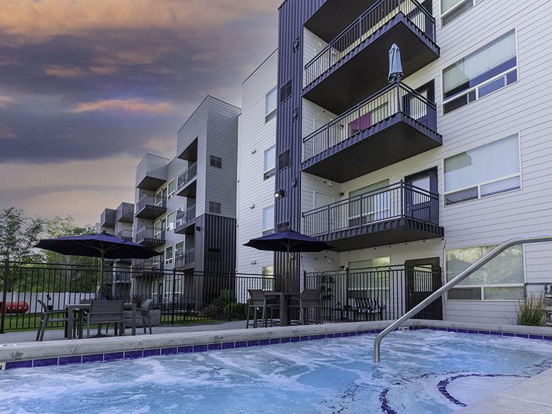 Hot Tub - Sunset   644 City Station Apartments in Salt Lake City, UT