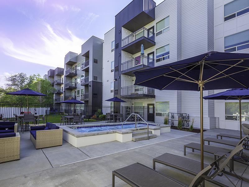 Jacuzzi - Sunset   644 City Station Apartments in Salt Lake City, UT
