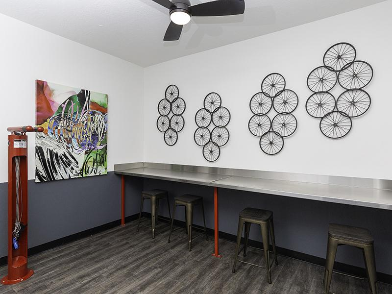 Bike Repair Room   644 City Station Apartments in Salt Lake City, UT