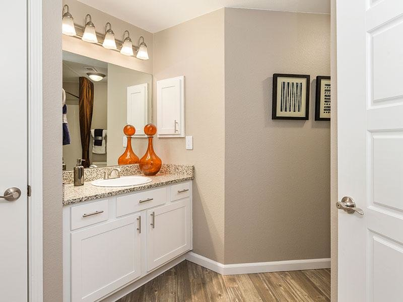 Bathroom | Retreat at Cheyenne Mountain Apartments in Colorado
