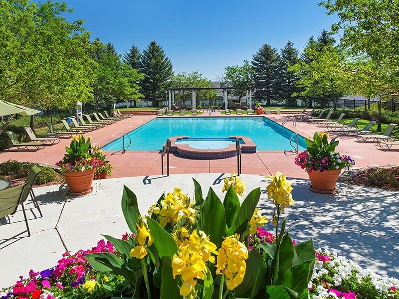Shimmering Pool | The Retreat at Cheyenne Mountain Apartments in Colorado Springs CO