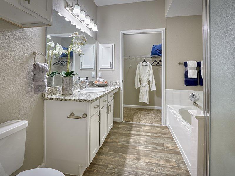 Bathroom | Retreat at Cheyenne Mountain Apartments