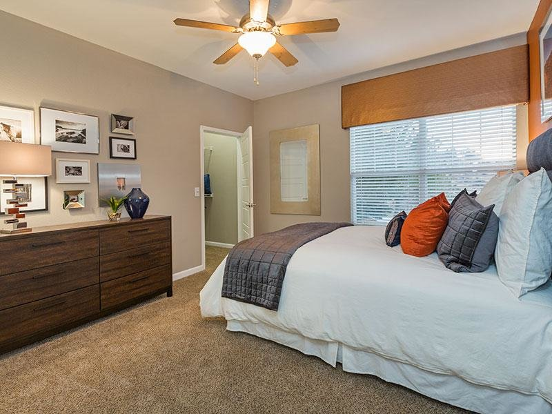 Bedroom | Retreat at Cheyenne Mountain Apartments in Colorado