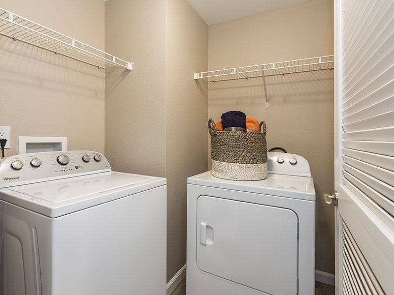 Washer & Dryer | Retreat at Cheyenne Mountain Apartments in CO