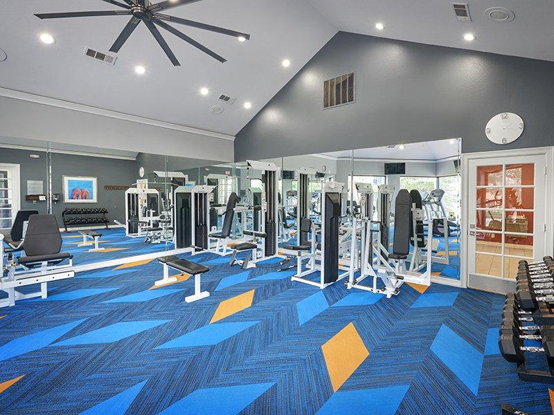 Gym | Retreat at Cheyenne Mountain Apartments