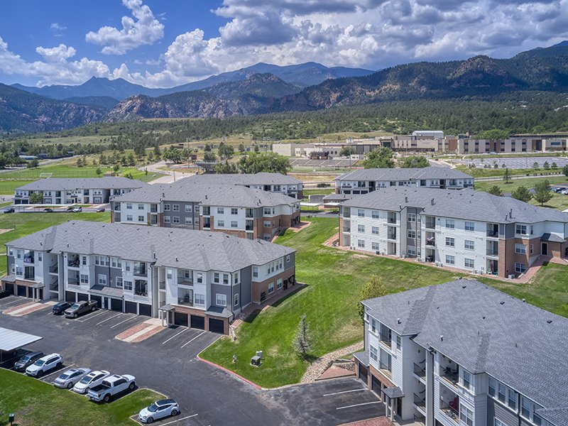 Aerial | Retreat at Cheyenne Mountain Apartments