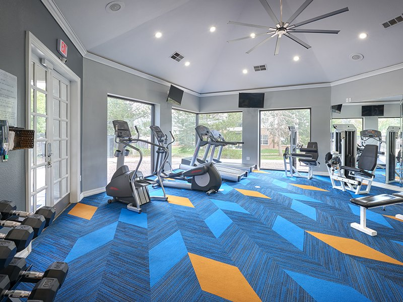 Fitness Center | Retreat at Cheyenne Mountain Apartments