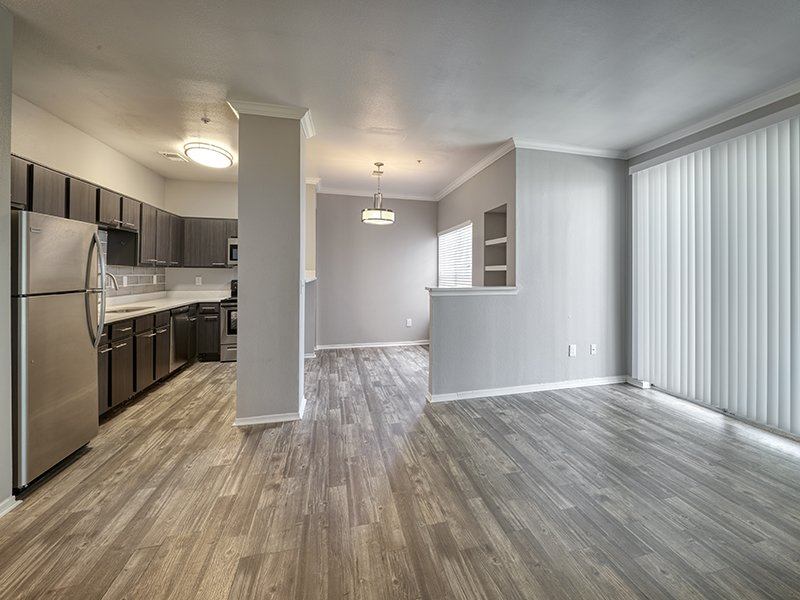 Living Room and Dining Area | Retreat at Cheyenne Mountain Apartments