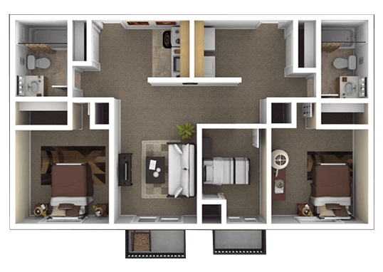 Floorplan for Mountain Ridge Apartments