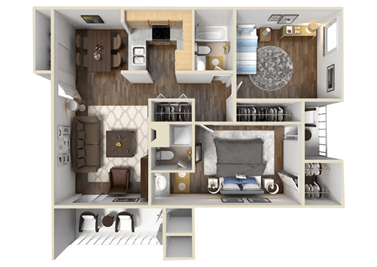 Floorplan for The Preserve at City Center Apartments