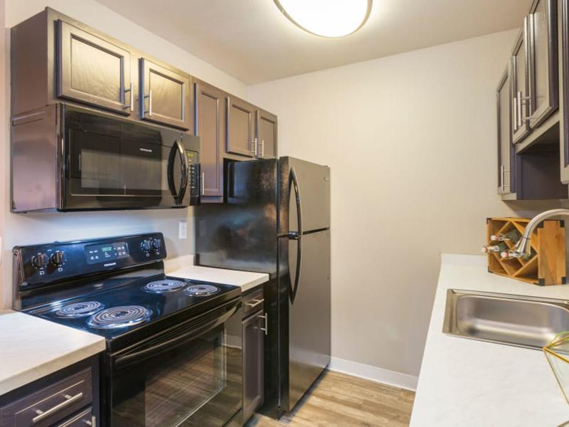 Fully Equipped Kitchen | The Preserve at City Center Aurora Apartments