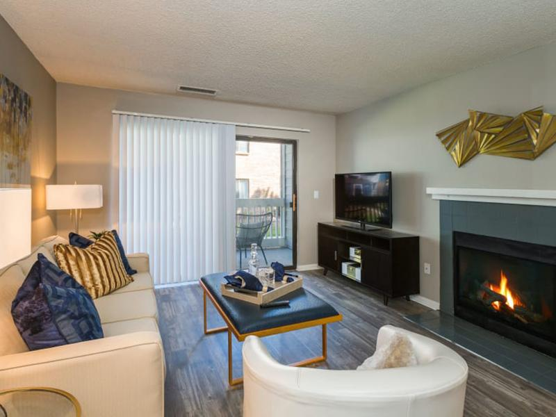 Living Room | The Preserve at City Center Apartments in Aurora CO