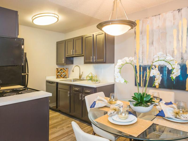 Kitchen & Dining Area | The Preserve at City Center in Aurora, CO