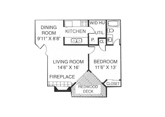 Floorplan for Cheyenne Crest Apartments