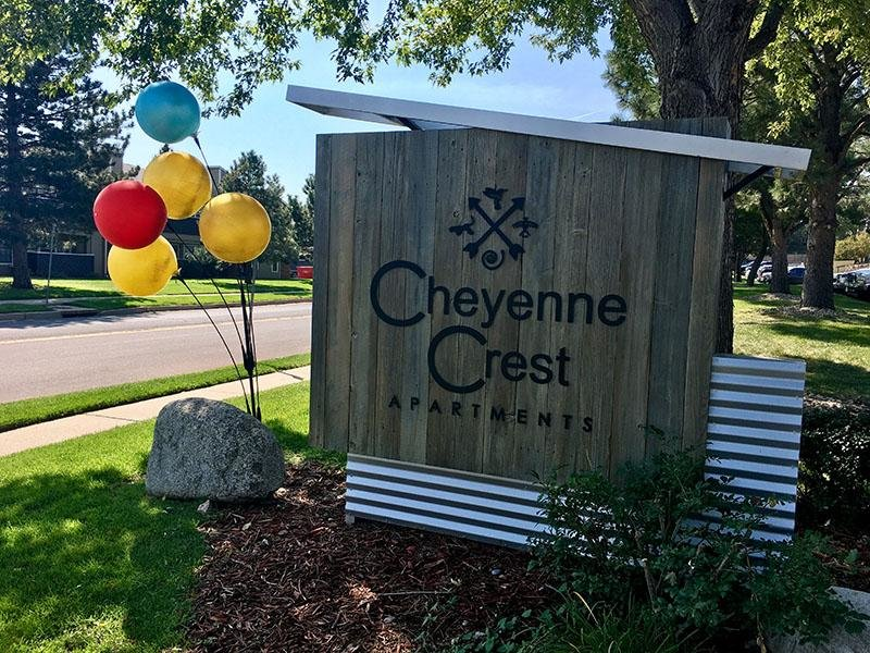 Welcome Sign - Cheyenne Crest - Colorado