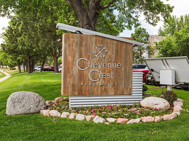 Welcome Sign | Cheyenne Crest Apartments in Colorado Springs, CO