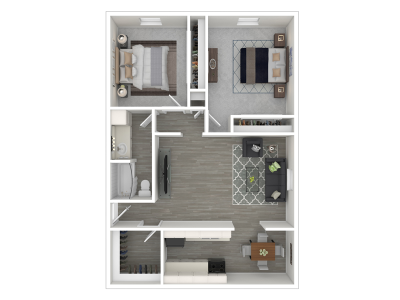 Floor Plans at Continental Court Apartments
