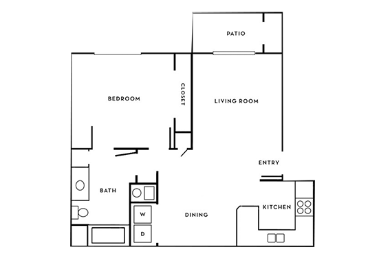 Floorplan for Oasis Palms Apartments