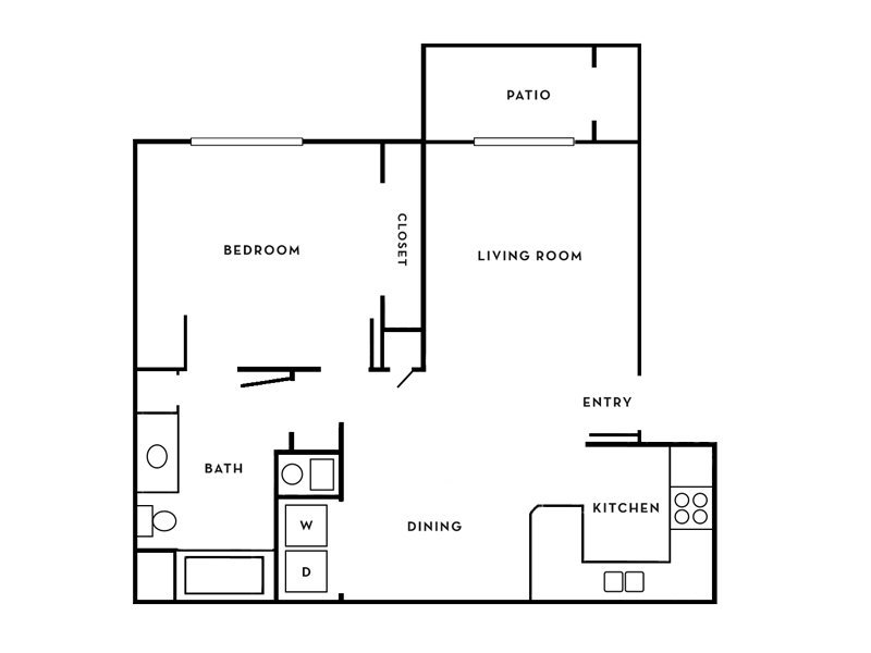 Our Aladdin is a 1 Bedroom, 1 Bathroom Apartment