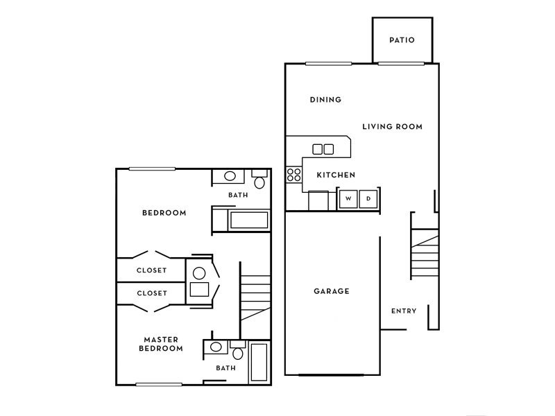 Our Mirage is a 2 Bedroom, 2 Bathroom Apartment