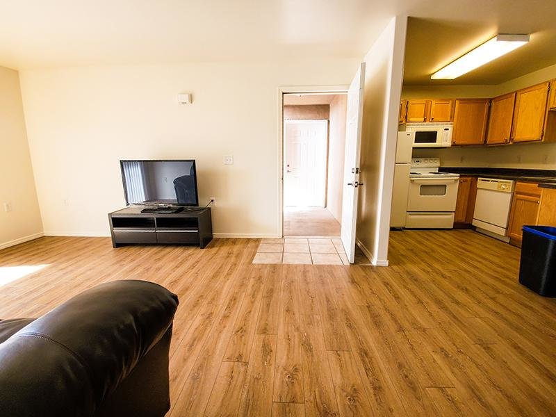 Living Room & Kitchen | Oasis Palms Apartments