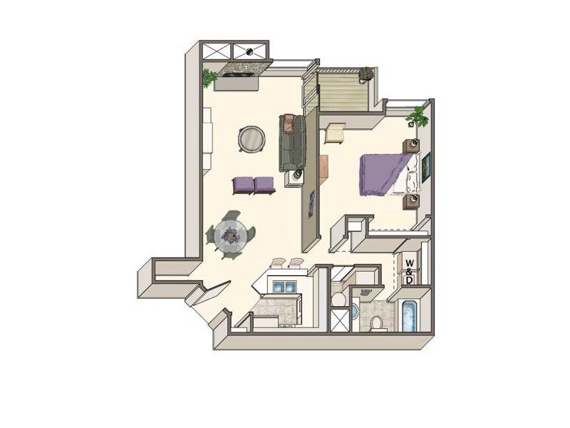 Floor Plans at Loretto Heights Apartments
